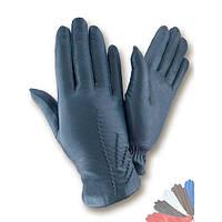 Женские перчатки из натуральной кожи модель 462 на шерстяной подкладке