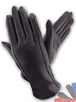 Женские перчатки из натуральной кожи модель 026 на шерстяной подкладке