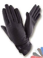 Женские перчатки из натуральной кожи модель 076 на шерстяной подкладке