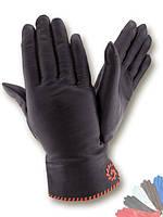 Женские перчатки из натуральной кожи модель 095 на шерстяной подкладке