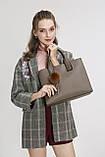 Модная женская сумка шоппер. Сумка тоут женская классическая (розовая), фото 4