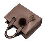 Модная женская сумка шоппер. Сумка тоут женская классическая (розовая), фото 7