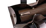 Модная женская сумка шоппер. Сумка тоут женская классическая (розовая), фото 8
