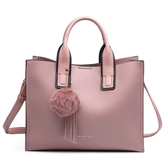 Модная женская сумка шоппер. Сумка тоут женская классическая (розовая)