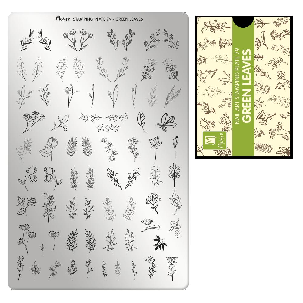Пластина Moyra №79 Green Leaves