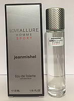 Мужской мини парфюм jeanmishel Love Allure Sport Pour Homme 35ml
