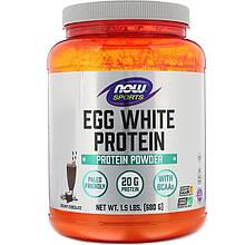 """Яичный протеин NOW Foods, Sports """"Egg White Protein"""" со вкусом сливочного шоколада (680 г)"""