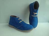Качественные брендовые женские ботинки из Испании Ortuno электрик, фото 1