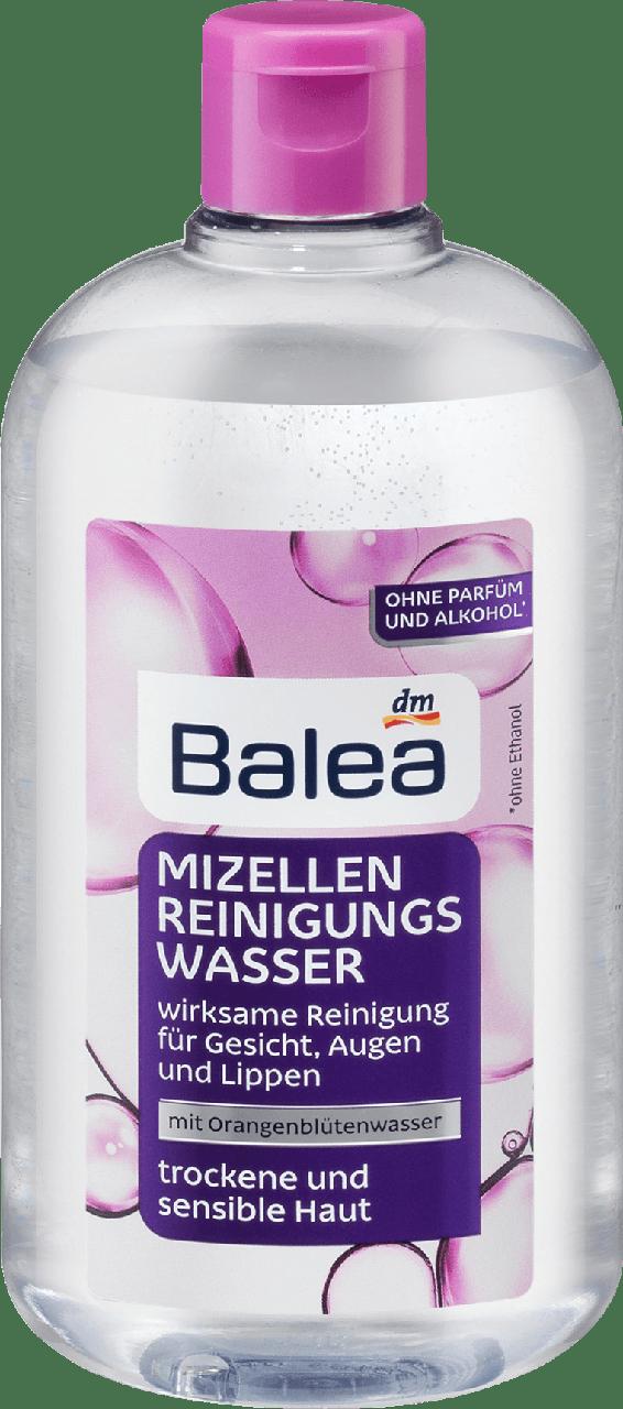 Мицеллярная очищающая вода для сухой и чувствительной кожи Balea Mizellenwasser, 400 ml
