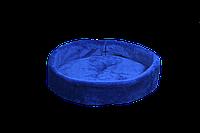 Лежак (лежанка) для кошек и собак (из меха) Мур-Мяу №3 Синий