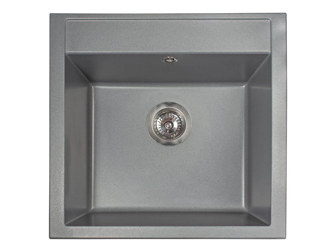 Кухонная мойка гранитная MIRAGGIO BODRUM 510 gray