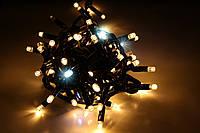 Уличная светодиодная гирлянда нить Lumion String Light стринг лайт 100 led белый теплый с мерц. без каб пит.