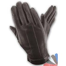 Мужские перчатки из натуральной кожи модель 108 без подкладки
