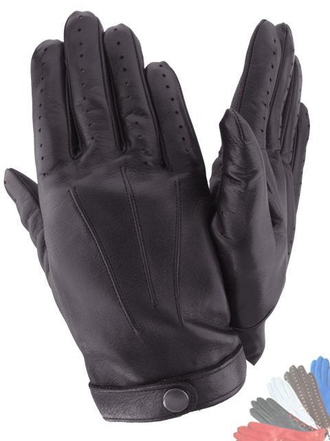 Чоловічі рукавички з натуральної шкіри модель 483 без підкладки