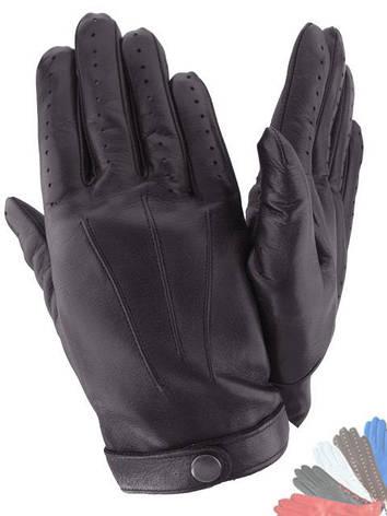 Чоловічі рукавички з натуральної шкіри модель 483 без підкладки, фото 2