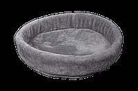 Лежак (лежанка) для кошек и собак (из меха) Мур-Мяу №3 Серый