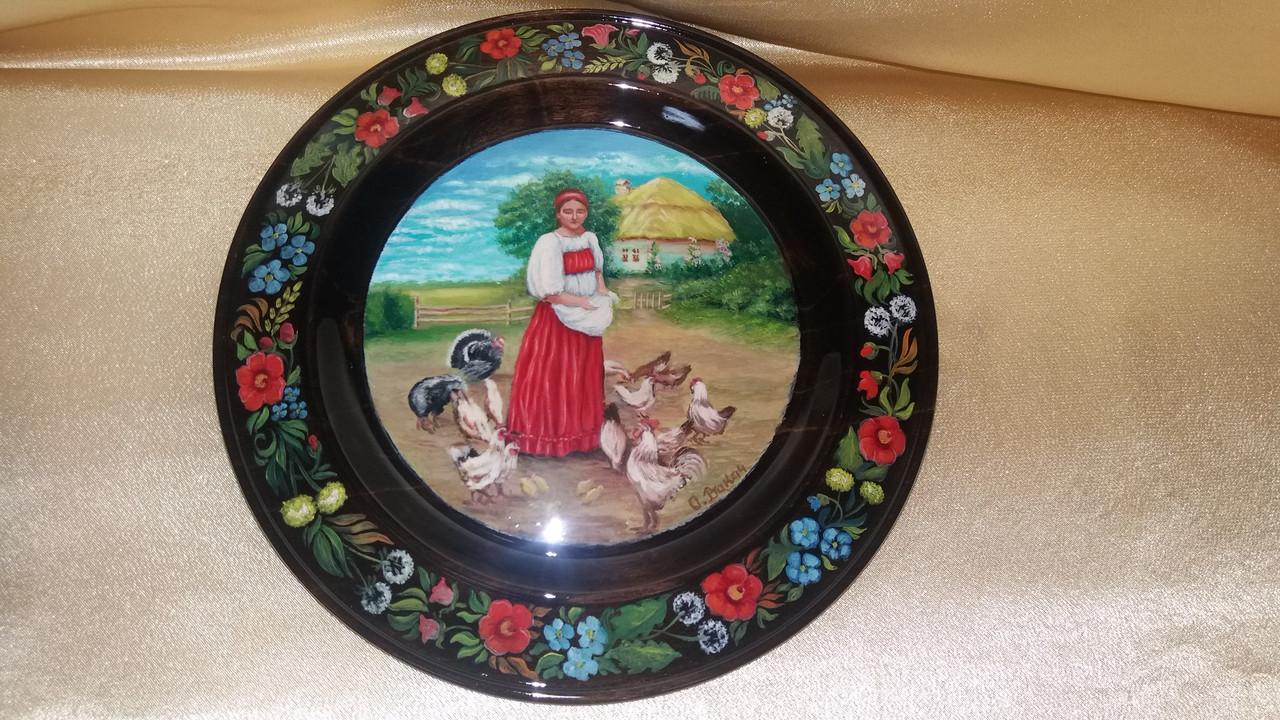 Тарелка сувенирная расписная