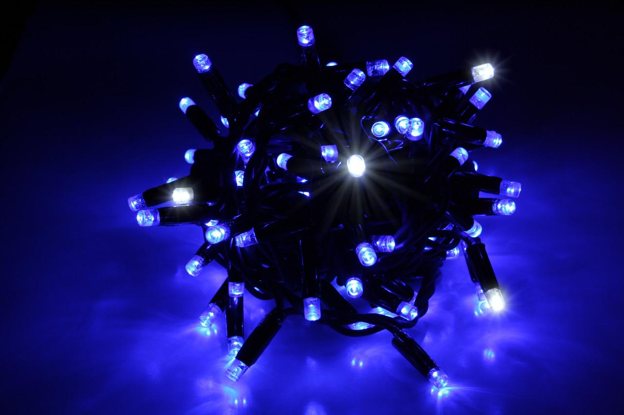 Уличная светодиодная гирлянда нить Lumion String Light (Стринг лайт) 100 led наружная цвет синий с мерцанием