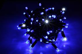 Уличная светодиодная гирлянда нить Lumion String Light стринг лайт100 led цвет синий с мерц без каб пит.