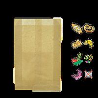 Бумажный Пакет Крафт 220х140х50мм (ВхШхГ) 40г/м² 100шт (602) , фото 1