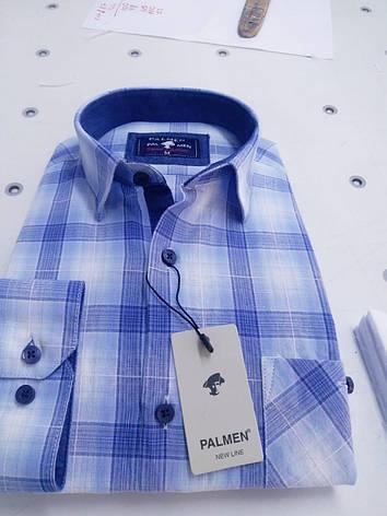 Рубашка 100% коттон Palmen в клетку, фото 2