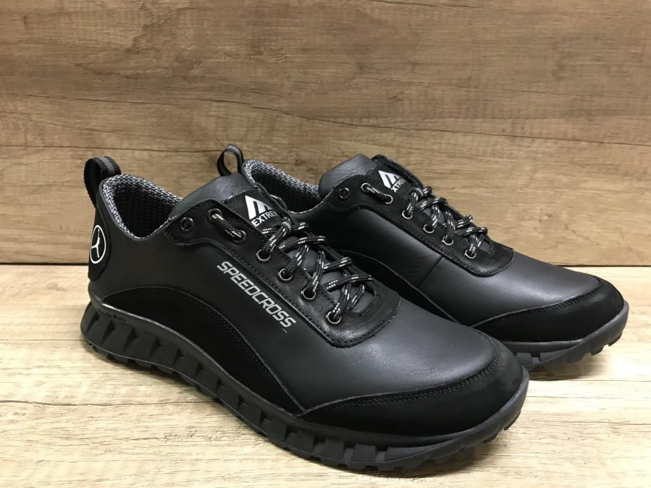 Чёрные мужские кроссовки , натуральная кожа ТМ EXTREM.2354/845.01