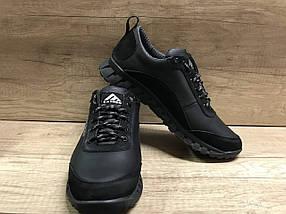 Чёрные мужские кроссовки , натуральная кожа ТМ EXTREM.2354/845.01, фото 2