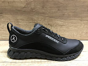 Чёрные мужские кроссовки , натуральная кожа ТМ EXTREM.2354/845.01, фото 3