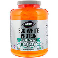 "Яичный протеин NOW Foods, Sports ""Egg White Protein Powder"" без добавок (2268 г)"
