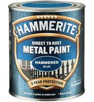 HAMMERITE молотковая краска по металлу антикоррозионная, чёрная, 0,75л