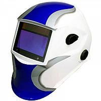Сварочная маска хамелеон Титан SUN7 (бело-голубая)