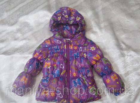 Женская детская куртка бантик на пуху