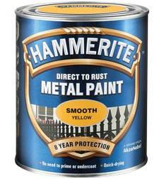HAMMERITE гладкая краска по металлу антикоррозионная, чёрная, 0,75л, фото 2