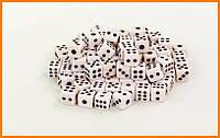 Кости игральные, кубики для игр пластиковые 8х8мм (100 шт)