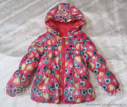 Детская женская куртка на пуху