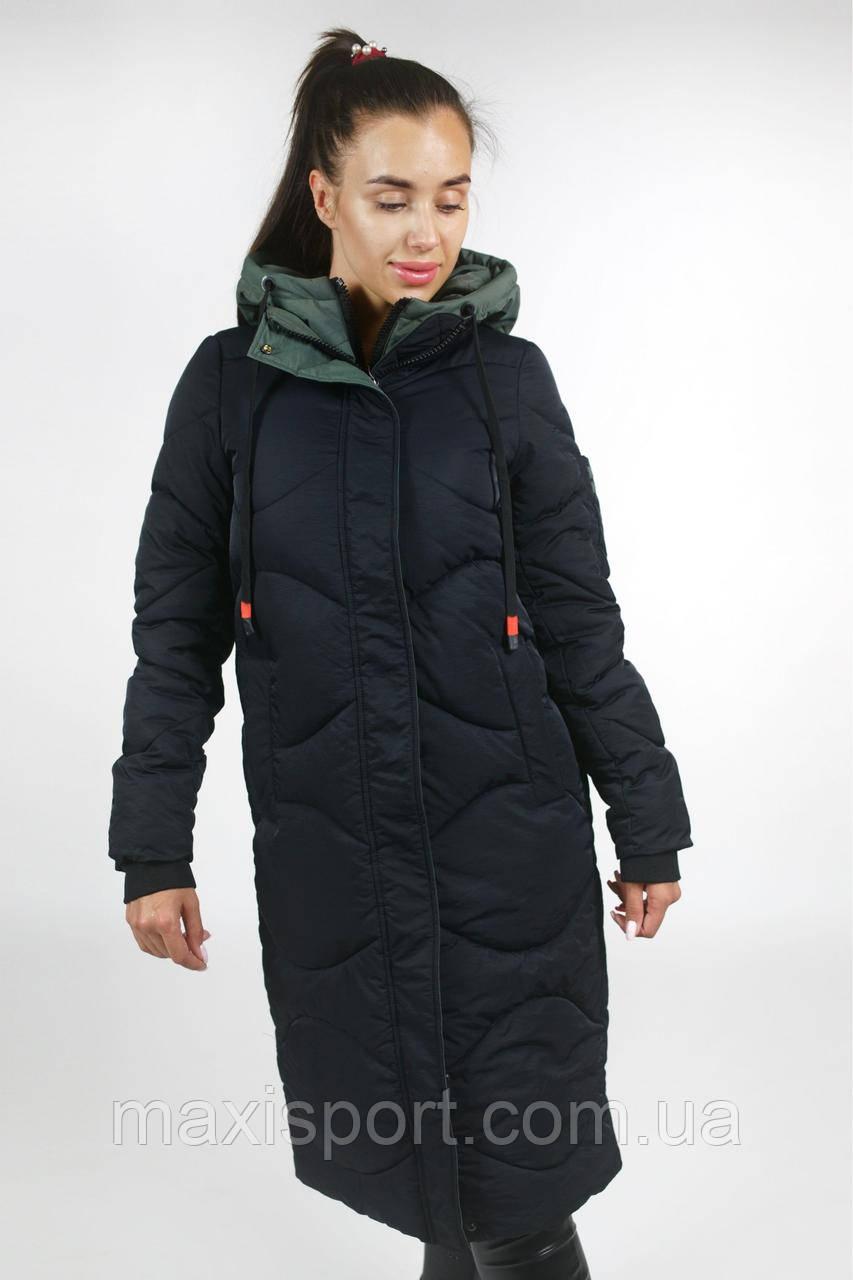 Пальто женское холлофайбер Freever (1818) Черный, M