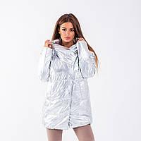 Женская куртка N 052T MONCLER SILVER