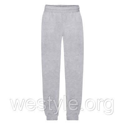 Спортивные брюки с резинкой внизу детские - 64051-94 серо-лиловые
