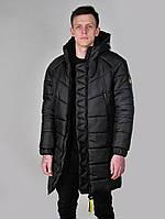 Мужская зимняя курточка черная премиум А+++