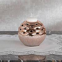 Подсвечник Doreline круглый керамика 12 см, фото 1