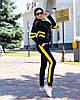 Женский осенний спортивный костюм: кофта с капюшоном и штаны, фото 5