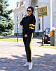 Женский осенний спортивный костюм: кофта с капюшоном и штаны, фото 2