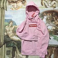 Свитшот с капюшоном женский молодежный розовый от бренда Supreme Суприм