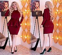 Женский костюм с юбкой нарядный трикотажный (норма и батал) (№314) Разные цвета, фото 1