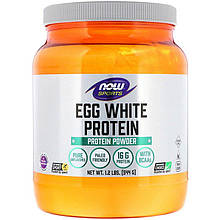 "Яичный протеин NOW Foods, Sports ""Egg White Protein Powder"" без добавок (544 г)"