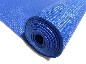 Профессиональный коврик для йоги, фитнеса и аэробики 1730×610×4мм, цвет синий, фото 2