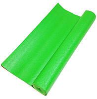 Профессиональный коврик для йоги, фитнеса и аэробики 1730×610×4мм, цвет зеленый