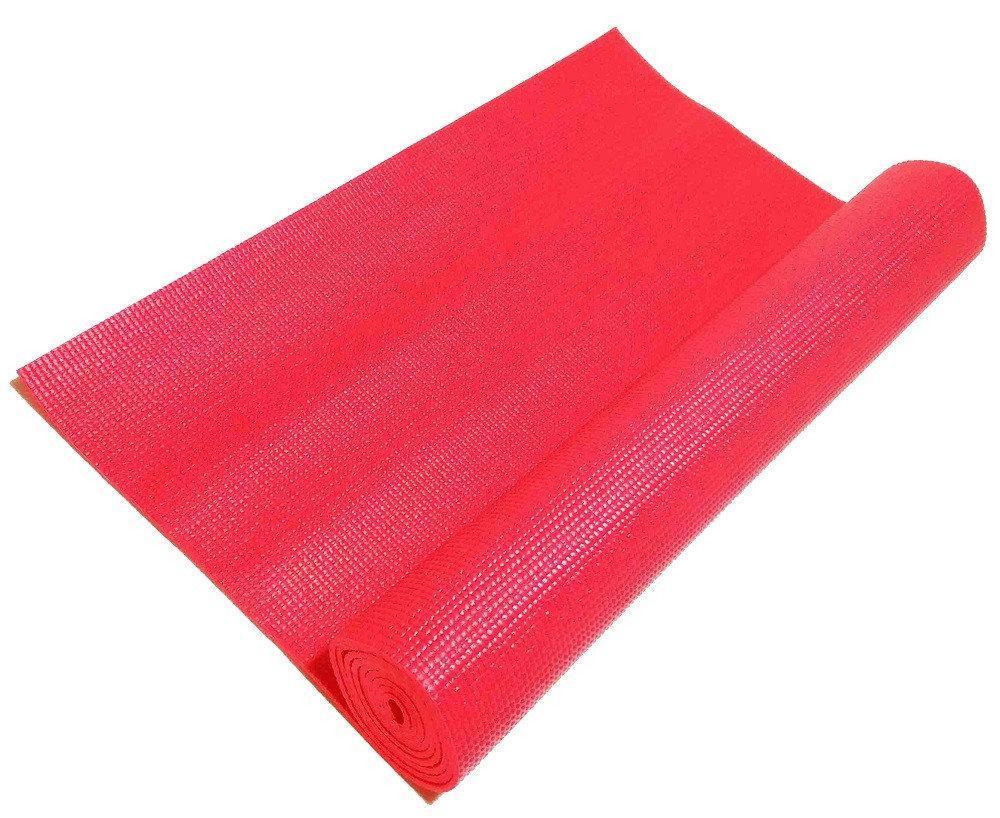 Професійний килимок для йоги, фітнесу та аеробіки 1730×610×4мм, колір червоний