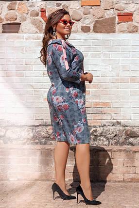 Платье  БАТАЛ ангора в расцветках 49263, фото 2