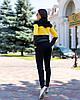 Жіночий осінній спортивний костюм: кофта з капюшоном та штани з кишенями, фото 6